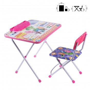 Набор детской мебели фиксики. знайка складной: стол, мягкий моющийся стул