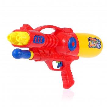 Водный пистолет буря, с накачкой, 39 см, цвета микс