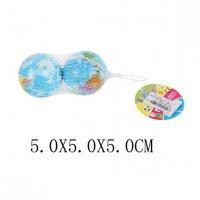 Мяч глобус, 5 см, 2 шт., сетка