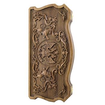 Нарды ивановские герб, бук 60х60см