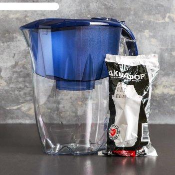 Фильтр для воды 2,8 л аквафор престиж, цвет синий
