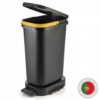 Мусорный бак с педалью be-eco 20л, черный-желтый