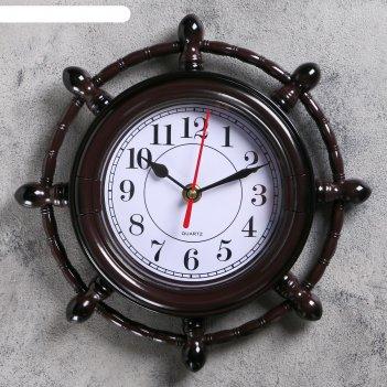 Часы настенные штурвал. классика