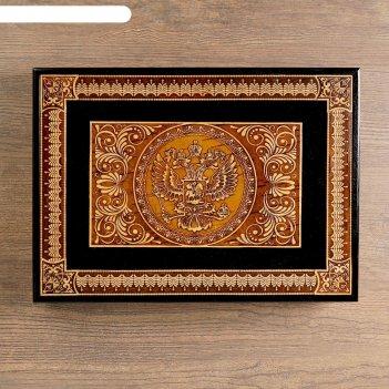 Шкатулка герб под документы.