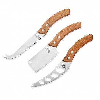 Набор из 3-х ножей для сыра, материал: нержавеющая сталь, дерево, серия ar