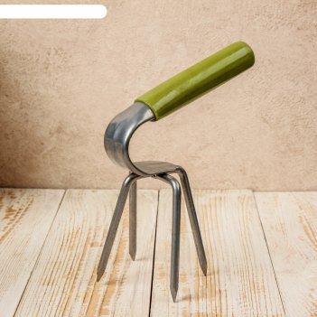 Рыхлитель, длина 15 см, 4 зуба, пластиковая ручка