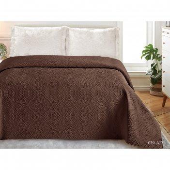 Покрывало «андора», размер 240 x 260, цвет коричневый
