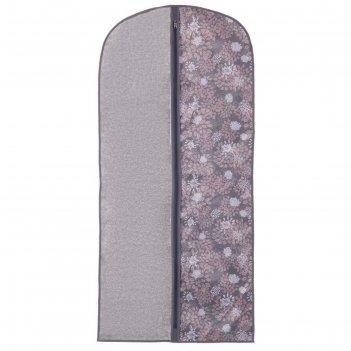 Чехол для одежды 60х130 см серебро