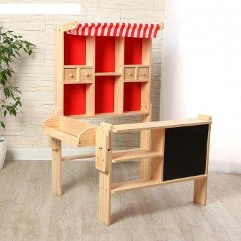 Игровой деревянный набор магазинчик 73х60х102 см
