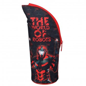 Пенал мягкий тубус-подставка 70*210 пмо 04-20 мал робот красный 62841