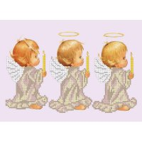 """Рисунок для вышивания бисером """"три ангела"""""""