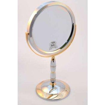 Зеркало b7 8088 c/g chrome&gold наст. кругл. 2-стор. 5-кр.ув