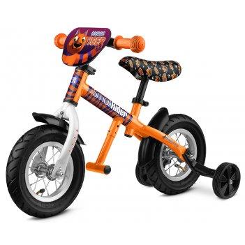 Легкий алюминиевый беговел с колесиками и подножкой small rider ballance 2