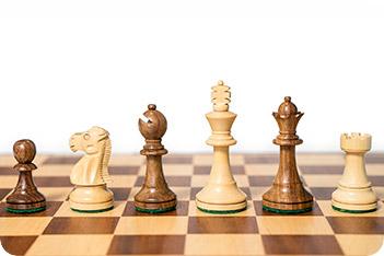 Фигуры шахматные стаунтон монарх, король 7,6см
