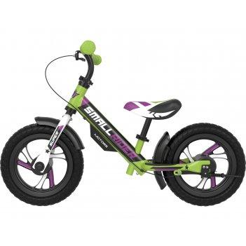 Алюминевый беговел с 2-мя тормозами small rider motors (eva) (зеленый)