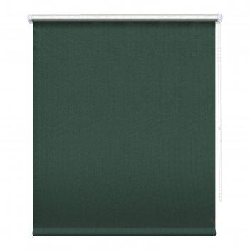 Рулонная штора блэкаут «сильвер», 180х175 см, цвет ментол