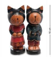 28-021 статуэтка кот и кошка фольклор, набор 2 шт