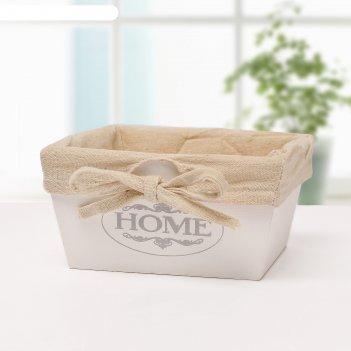 Короб для хранения home, большой, цвет белый