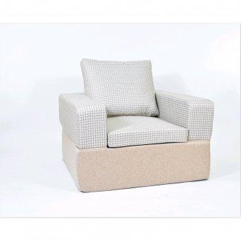 Кресло-кровать с банкеткой «портер», размер 100 x 100 см, бежевый, рогожка