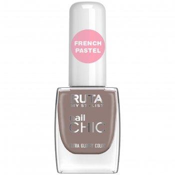 Лак для ногтей ruta nail chic, тон 84, монблан