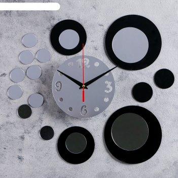Часы-наклейка diy иллюзия d=15 см, плавный ход, тип батарейки 1 аа