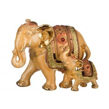 Фигурка слон со слоненком высота=18 см длина=21 ...