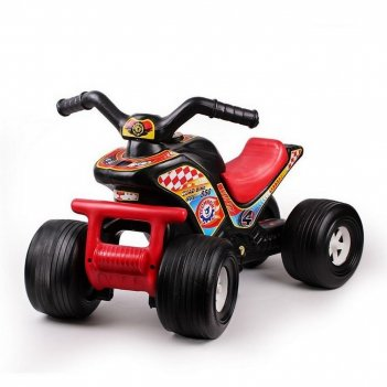 4111 квадроцикл- каталка техно черно-красный
