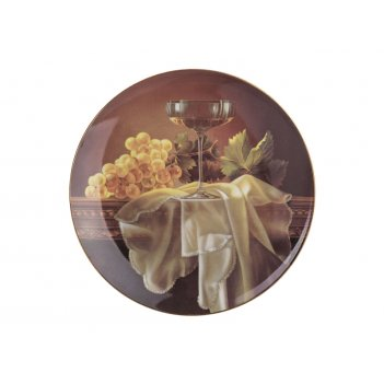 Тарелка настенная декоративная бокал диаметр=20,...