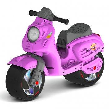 Ор502 каталка-мотоцикл беговел скутер цвет розовый