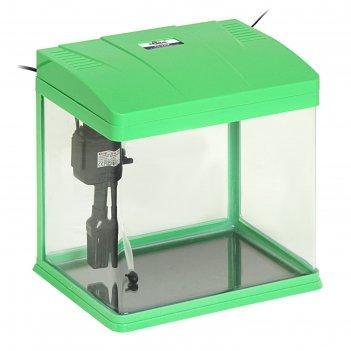 Аквариум seastar hx-320f 18 л, зеленый (в комплекте led-лампа, топ-фильтр)