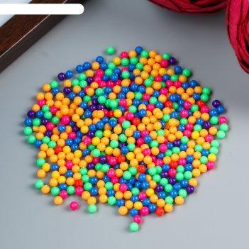 Набор декора для творчества пластик разноцветные шарики 20 гр d=0,4 см