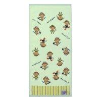 Полотенце махровое купу-купу обезьянки 70*130 см, желтый хл100% 420 гр/м