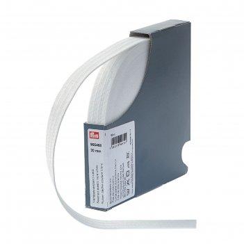 Эластичная лента для уплотнения шва 20 мм 10м, цвет белый