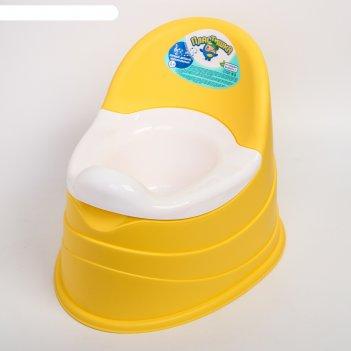 Горшок детский музыкальный, съёмная чаша, цвет жёлтый