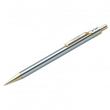 Ручка шариковая в футляре автоматическая silver premium, узел 0.7 мм, черн