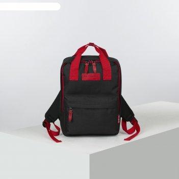 Рюкзак-сумка м-368, 26*13*35, отд на молнии, н/карман, черный