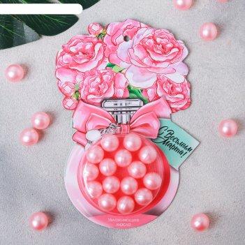 Масло для ванн в капсуле с восьмым марта!, 15 шт. по 1,5 г., аромат - роза