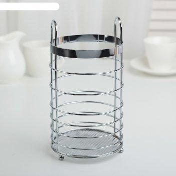 Сушилка для столовых приборов 11х11х20 см, цвет хром
