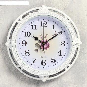 Часы настенные, серия: интерьер, роза фетида, 27х27 см