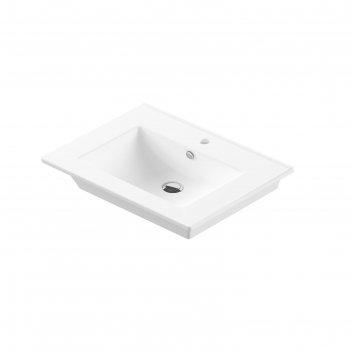 Умывальник sanita luxe «quadro 75» мебельный, белый