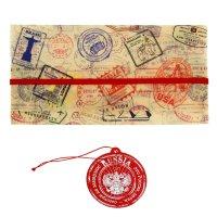 Туристический конверт для документов + бирка для чемодана russia