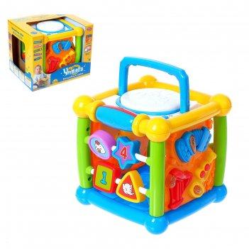 Развивающяя игрушка кубик умняга, световые и звуковые эффекты