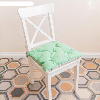 Подушка на стул, размер 45 x 45 см, цвет мятный