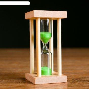 Часы песочные основание квадрат 5 минут, микс 8,5х4,2х4,2 см