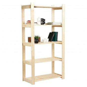 Стеллаж деревянный алеф-2 159х84х37,5 см