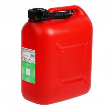 Канистра гсм, 20 л, пластиковая, красная