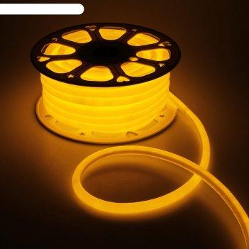 Гибкий неон круглый d 16 мм, 25 метров, led-120-smd2835, 220 v, желтый
