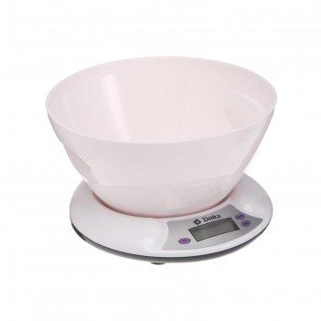 Весы кухонные delta kce-01, электронные, до 5 кг, белые