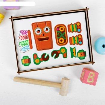 Логическая головоломка роботы, материал: пробка