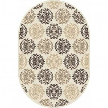 Овальный ковёр valencia deluxe d313, 200 х 500 см, цвет cream-brown